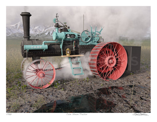 Case Steam Tractor Signed and Numbered Giclée Print