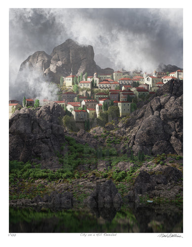 City on a Hill Revealed Signed and Numbered Giclée Print