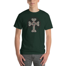 Load image into Gallery viewer, Woven Cross Design Short-Sleeve T-Shirt