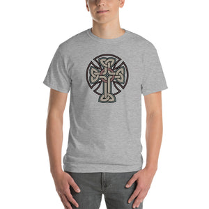 Woven Cross Design Short-Sleeve T-Shirt