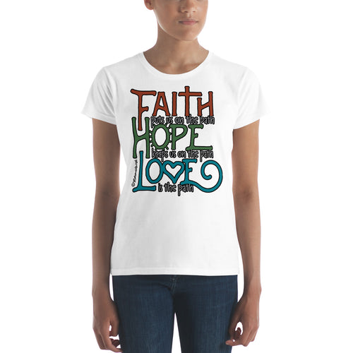 Faith Hope Love women's short sleeve t-shirt