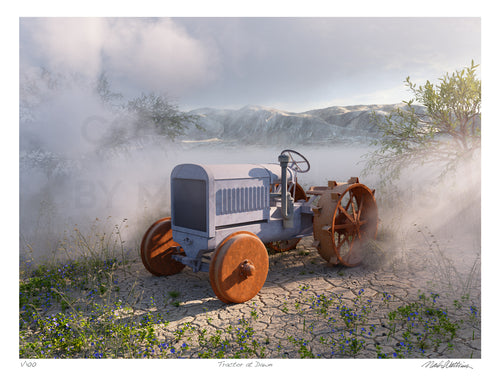 Tractor at Dawn Signed and Numbered Giclée Print