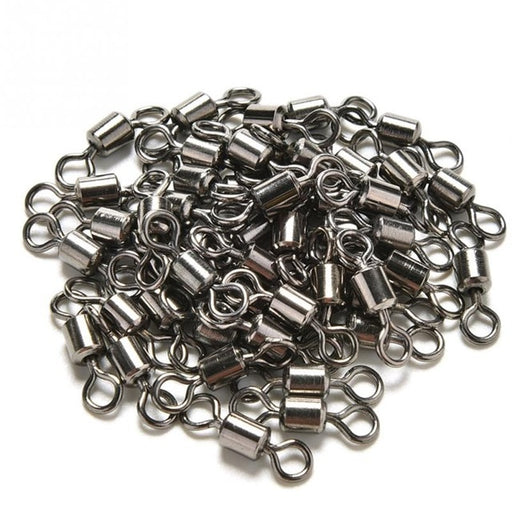 50pcs Ball Bearing Swivel Solid Rings Fishing Connector 1CM Length Tool Durable