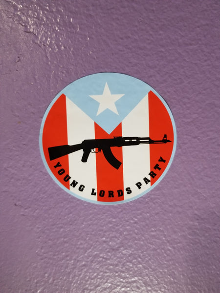 """Young Lords"" Static Cling Sticker"