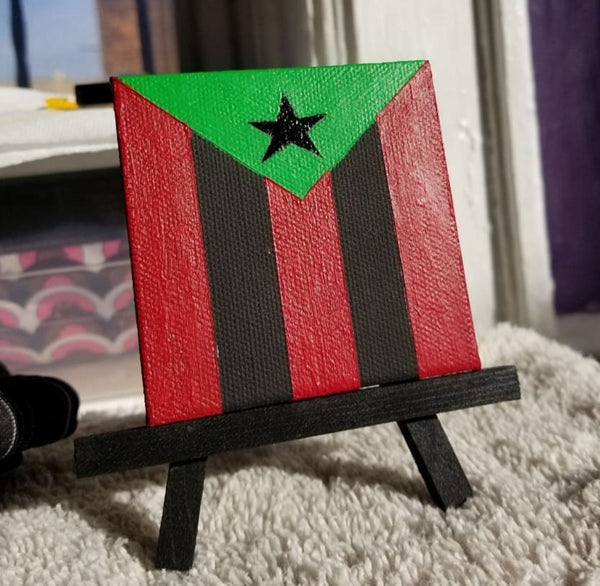 """Afro Borikén"" Miniature Canvas"