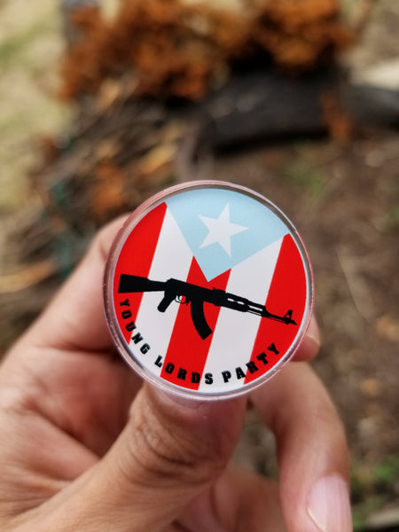 """Young Lords"" Acrylic Pins"