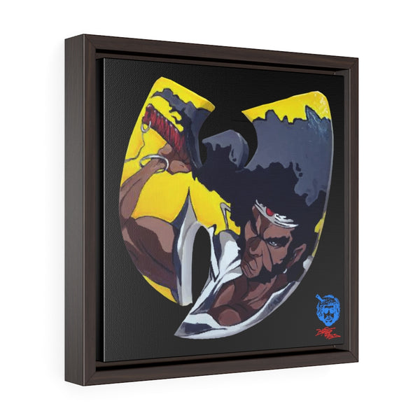 """Wu-Yasuke"" Square Framed Premium Gallery Wrap Canvas"