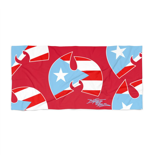 """Wu-Manolo"" Red Beach Towel"