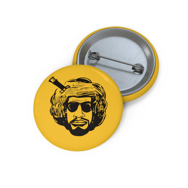 """Afro Bobbito 21"" Button"