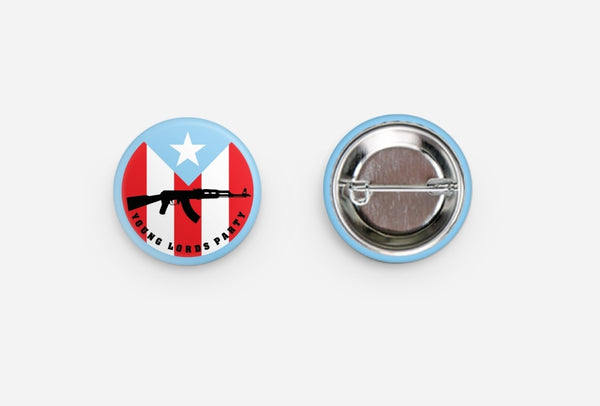 """Young Lords Sky Blue"" Buttons"