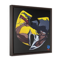 """Wu-Yasuke Redux"" Square Framed Premium Gallery Wrap Canvas"