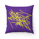 """Wu-Nuff"" Who's Tha Masta? Faux Suede Square Pillow"