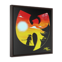 """The Story of the Samurai"" Square Framed Premium Gallery Wrap Canvas"