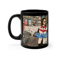 """From El Barrio, With Love"" Black mug 11oz"