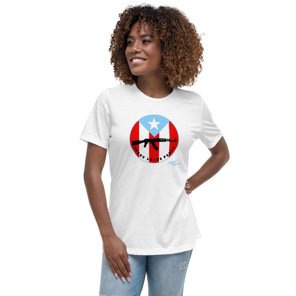 """Young Lords Medallion"" Women's Relaxed T-Shirt"