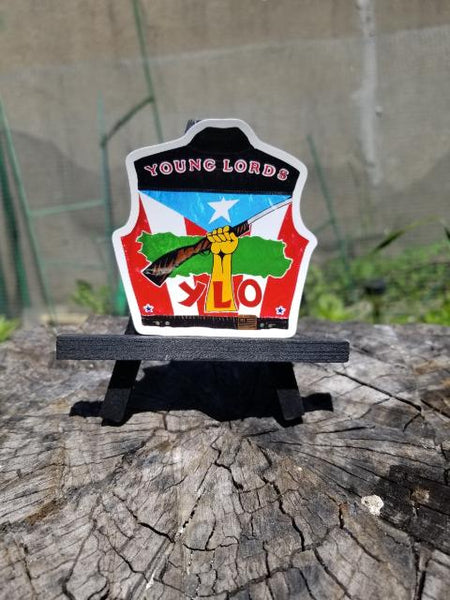 """Young Lords Coat of Arms"" Static Cling Stickers"
