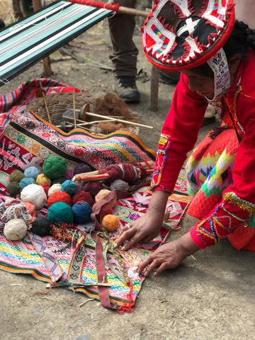 naturally dyed yarn in peru