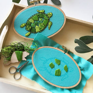 Intro to Embroidery; Sea Turtle - Virtual Class | March 6, 2021