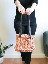 Load image into Gallery viewer, PREORDER Vista Tote Kit | Small (Yarn, Leather Handles, Pattern)