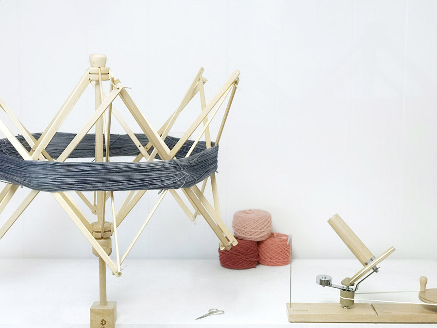 Wooden Yarn Winding Set-Up