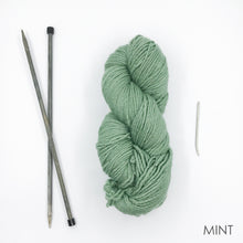 Load image into Gallery viewer, Beginners Knit Kit (Yarn, Needles + Pattern)