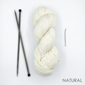 Beginners Knit Kit (Yarn, Needles + Pattern)
