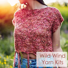 Load image into Gallery viewer, Wild Wind Top Yarn Kit