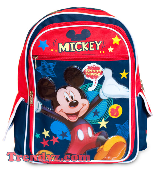 Disney Mickey Mouse - Fun with Everyone, Large School Backpack 16""