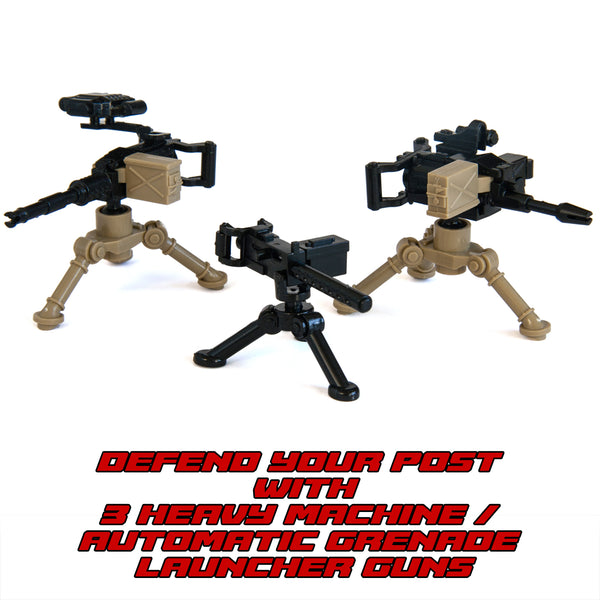 Ultimate Military Army Outpost Weapon Pack Toy for Custom Bricks Minifigures