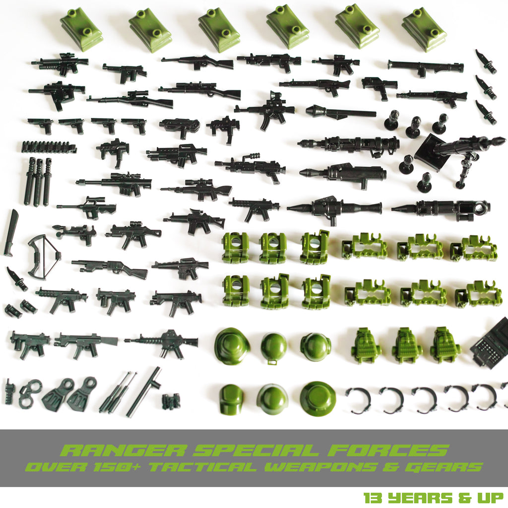 Ultimate Ranger Special Forces - Military Army Weapons and Accessories Building Block Toy for Custom Bricks Minifigures