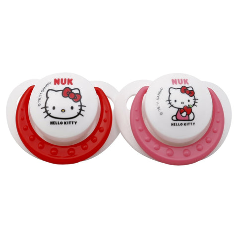 Nuk Hello Kitty Orthodontic Silicone Pacifiers-6-18M (2 Pack)
