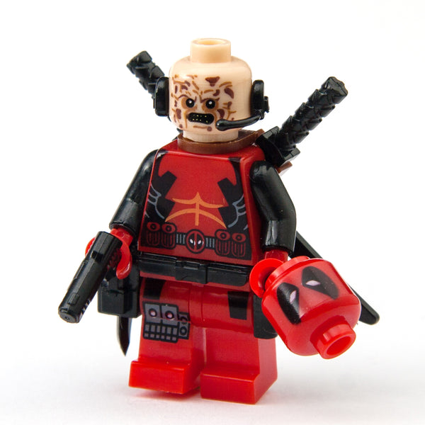 Classic Deadpool Minifigure with 1 Extra Meathead (Wade Wilson) - Lego Compatible