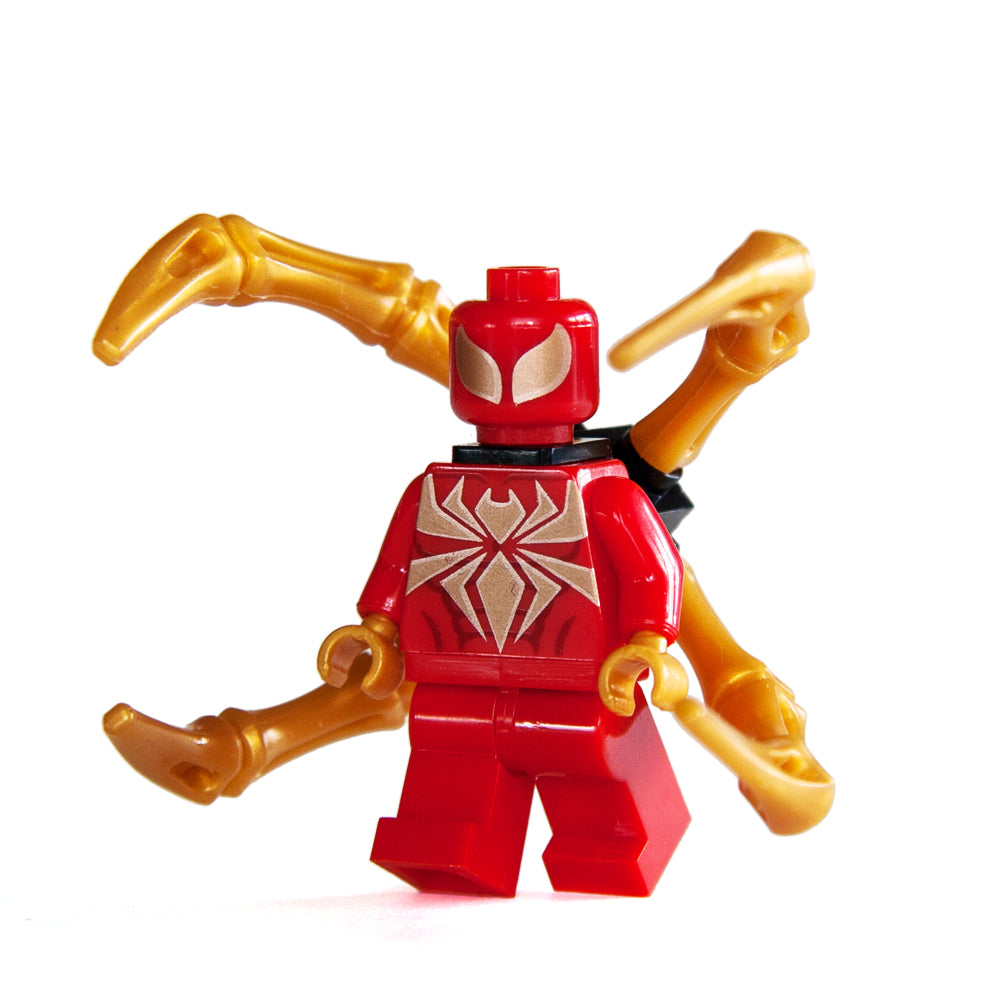 Custom Bricks Classic Comic Spider-Man Iron Spider Suit Minifigure  for Marvel Civil War & Infinity War Building Blocks Collection Lego compatible