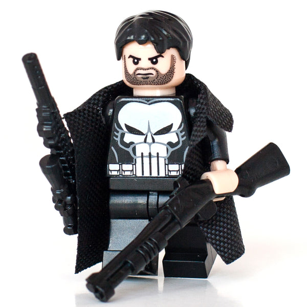 The Punisher Frank Castle with various weapons and trench coat Marvel Comics Superhero Custom Minifigure