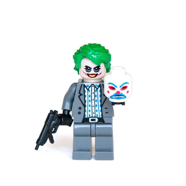 Custom Bricks The Joker Bank Robber with Clown Mask From Dark Knight Minifigure Building Blocks Collection Lego compatible