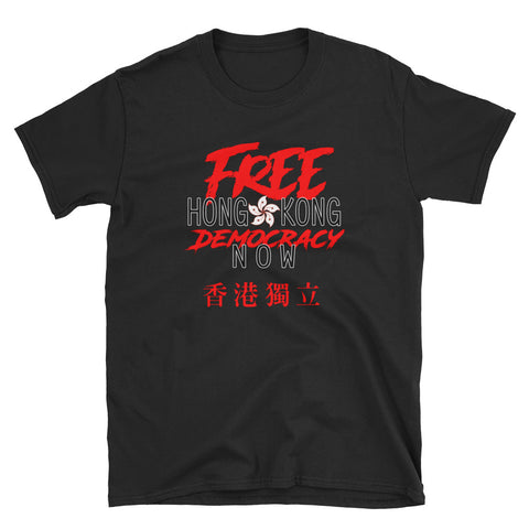 Free Hong Kong Democracy Now HK independence Flag T-Shirt