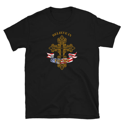 Believe in Trump Christian Holy Cross Design T-Shirt