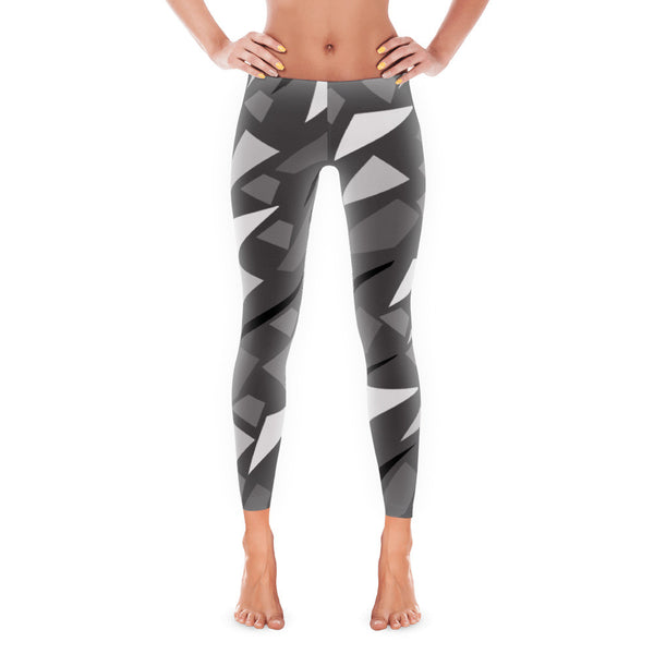 Grey Geometric Leggings Design in California