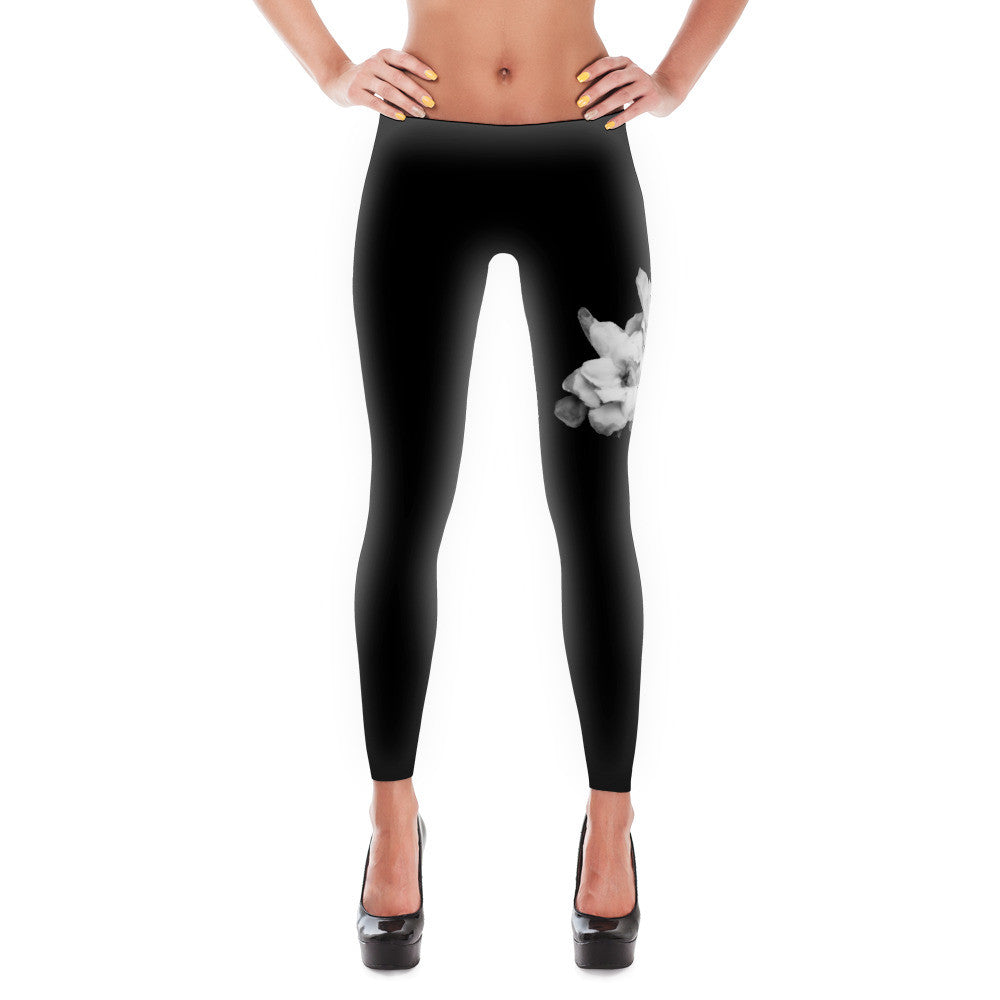 Gardenias Casual / Yoga Black Leggings Design in California