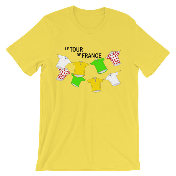 Le Tour De France Cycling Short Sleeve T Shirt