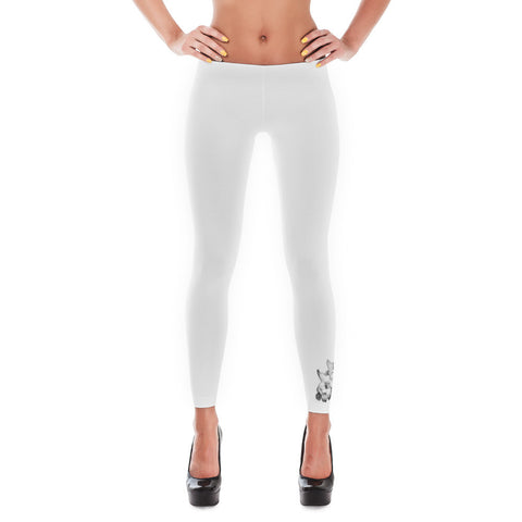 Small Gardenias White Leggings Design in California