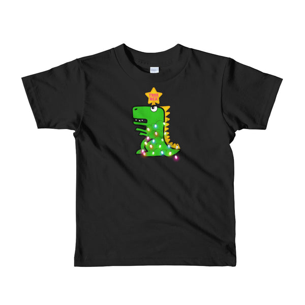 Tree Rex Funny T-Rex Dinosaur Christmas Kids Toddler T-Shirt - Merry Xmas Kids Funny Tee Made in USA
