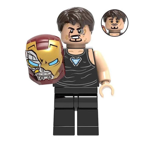 Tony Stark Ironman Avengers Endgame Custom Bricks Minifigure Block Toy Lego compatible