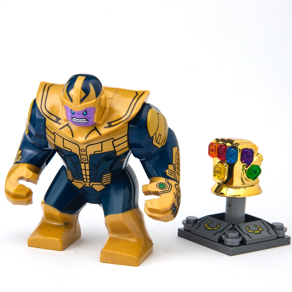 Thanos from Infinity War Custom Minifigure with Infinity Gauntlet Glove with Stones, Marvel Comics Avengers Guardians  Thanos from Infinity War Custom Minifigure with Infinity Gauntlet Glove with Stones, Marvel Comics Avengers Guardians