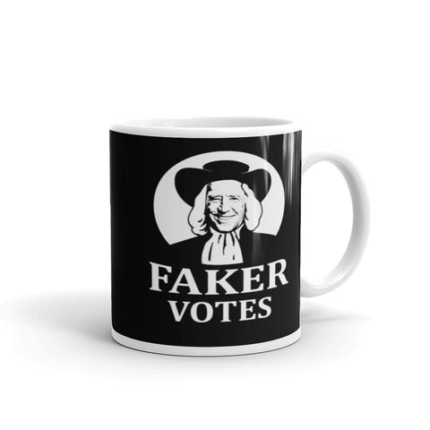 Faker Votes Sleepy Joe Biden Election Fraud President Liberals Coffee Mug