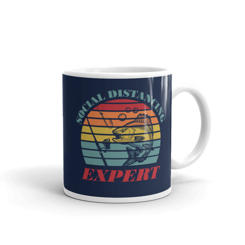 Social Distancing Expert for Fisherman Fishing Coffee Mug