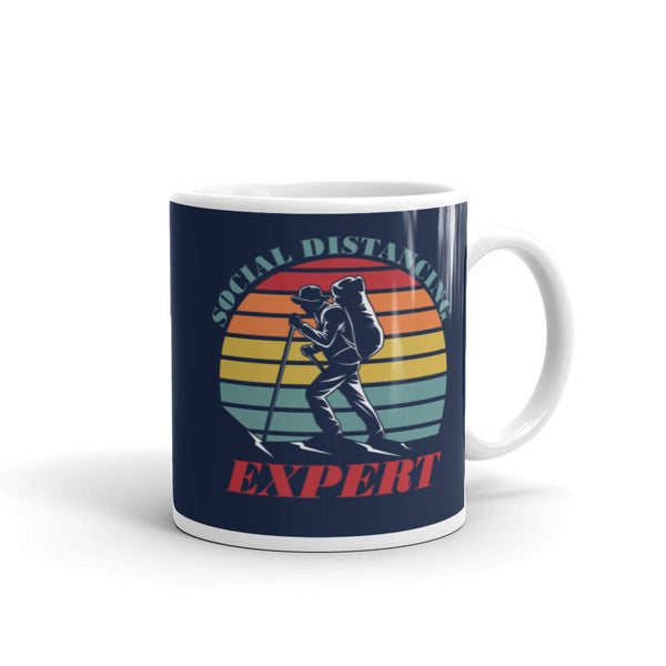Social Distancing Expert for Hiker Hiking Camper Camping Coffee Mug