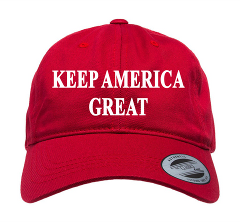 KEEP AMERICA GREAT EMBROIDERED DAD CAP