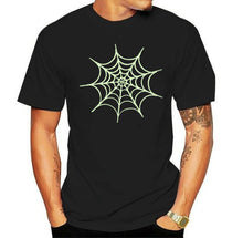 Load image into Gallery viewer, Spider Web Glow in the Dark Tshirt