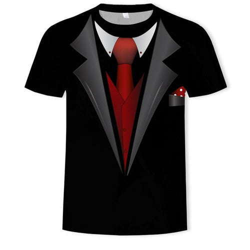 Fake two pieces Men's Suit T-Shirts Available in 5 Styles, available in larger sizes